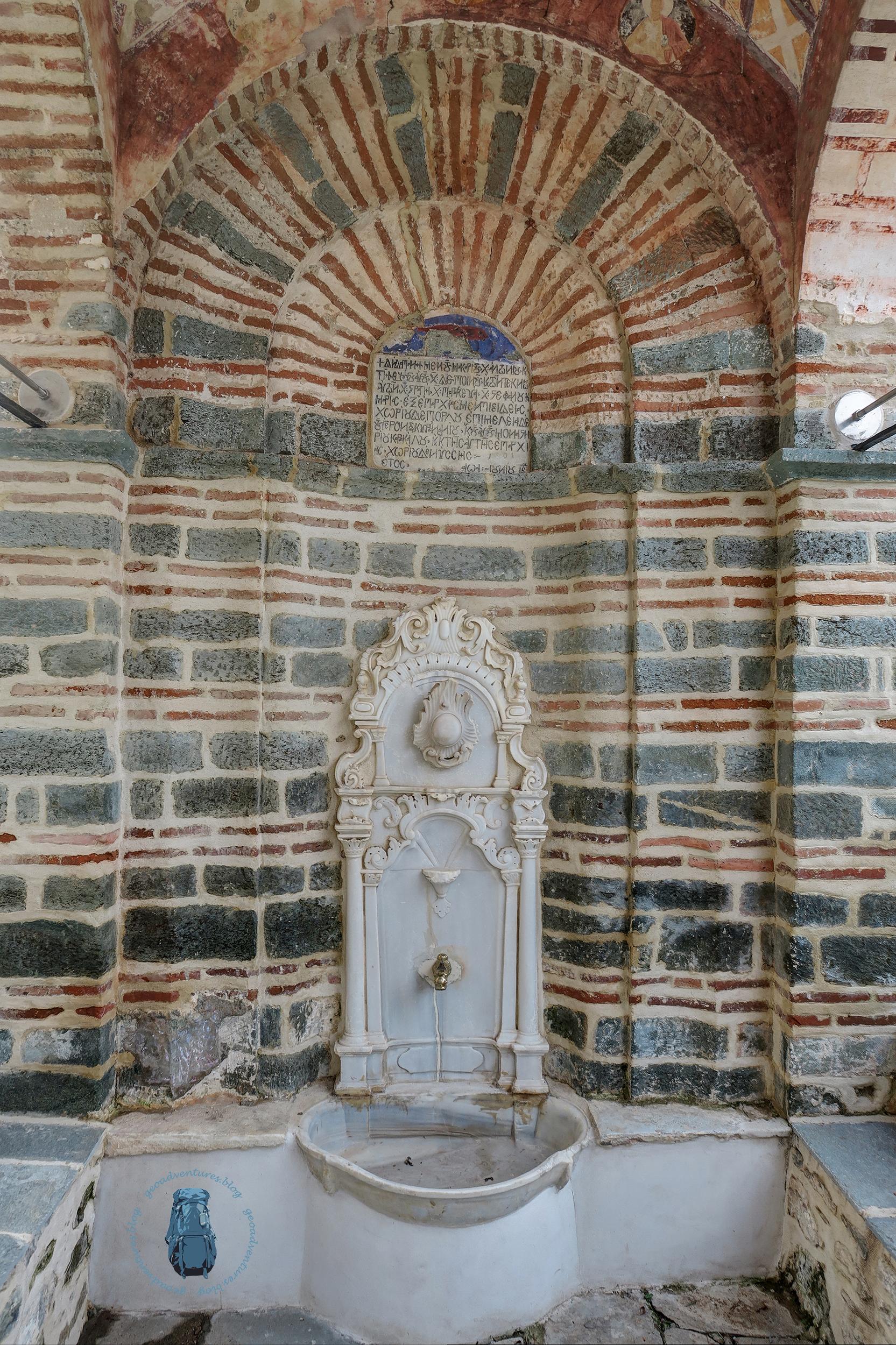 Kloster Karakallou: Brunnen