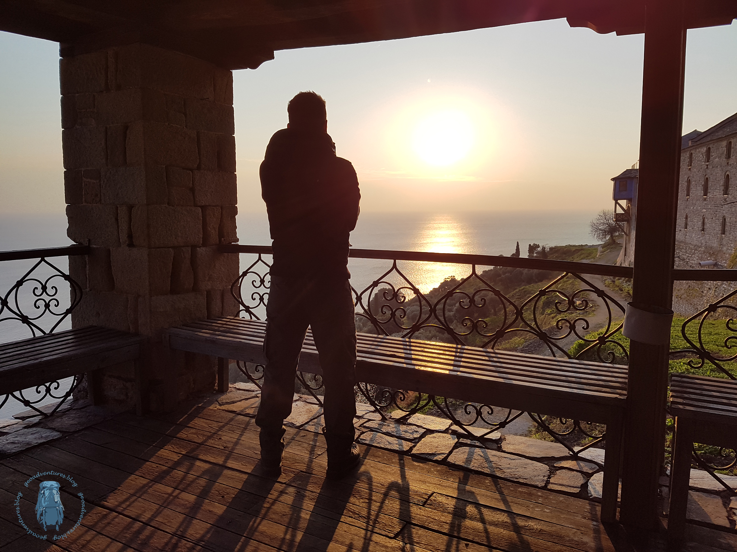 Megisti Lavra - Die Sonne geht unter über der Ägäis