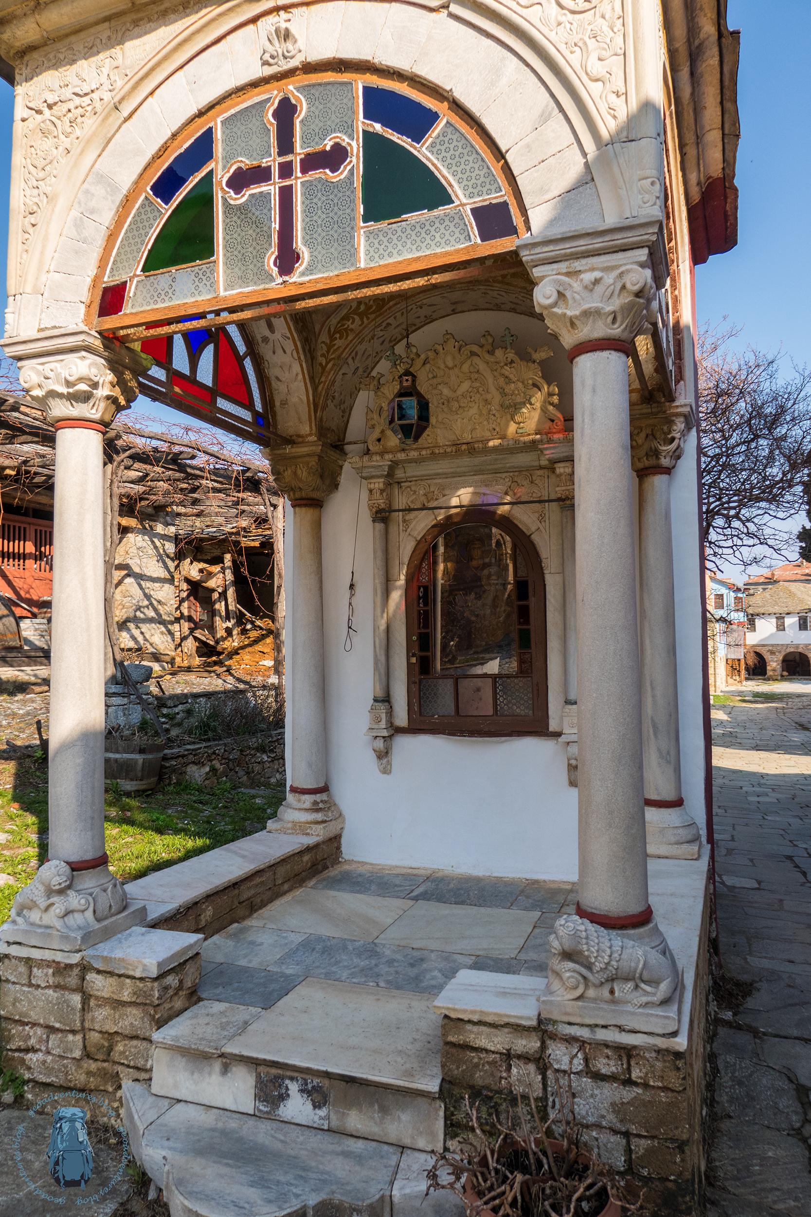Megisti Lavra - Fresko im Brunnen