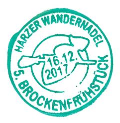 Sonderstempel der Harzer Wandernadel