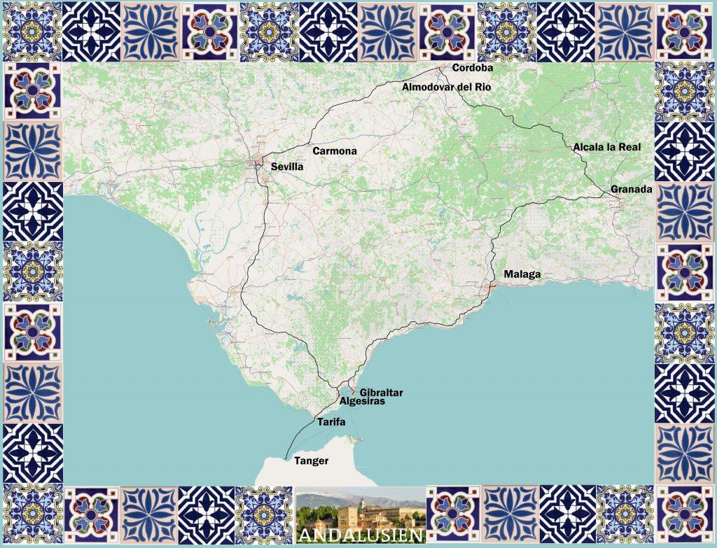 Malaga Altstadt Karte.Andalusien Geocaching Zwischen Okzident Und Orient