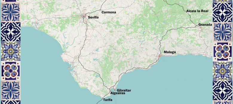Andalusien - Karte