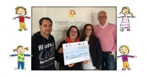 Geocacher helfen: 3.250 Euro für den nestwärme e.V. Deutschland