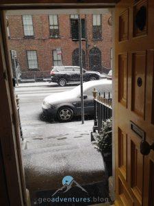 Geocaching Dublin - Schnee