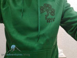 Geocaching Dublin - Grüner Pulli