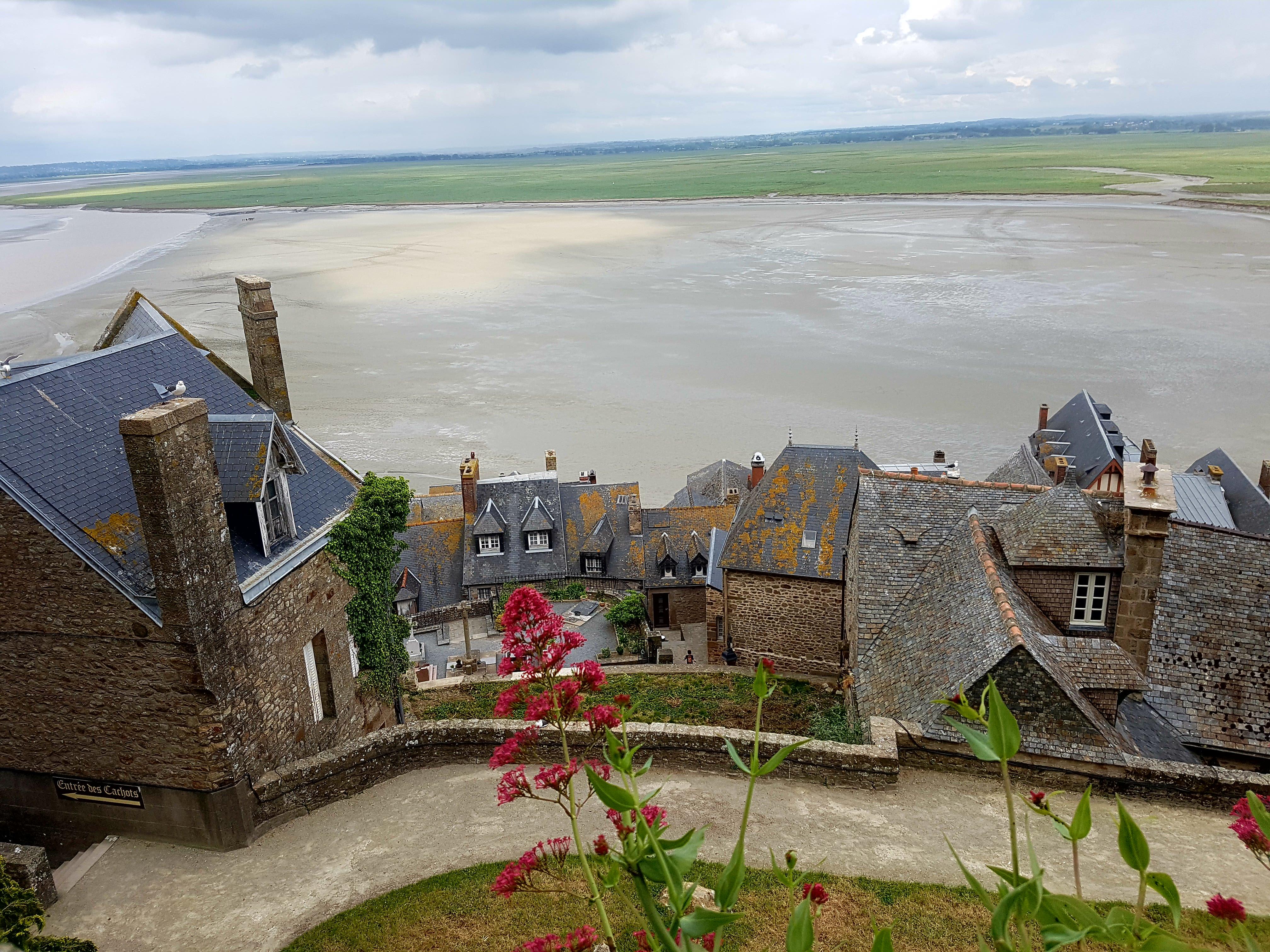 Mont-Saint-Michel Blick aufs Dorf