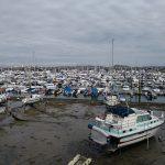 Geocachen auf Guernsey und Jersey - Hafen bei Ebbe