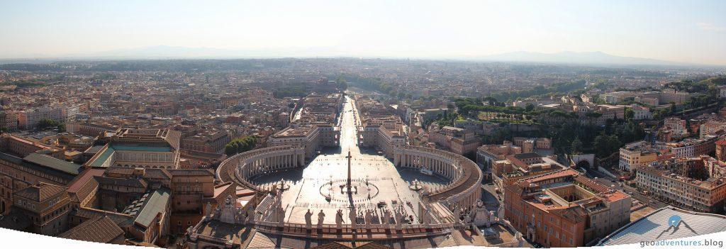 Vatikan Panorama Petersplatz