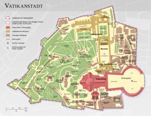 Vatikanstadt Plan