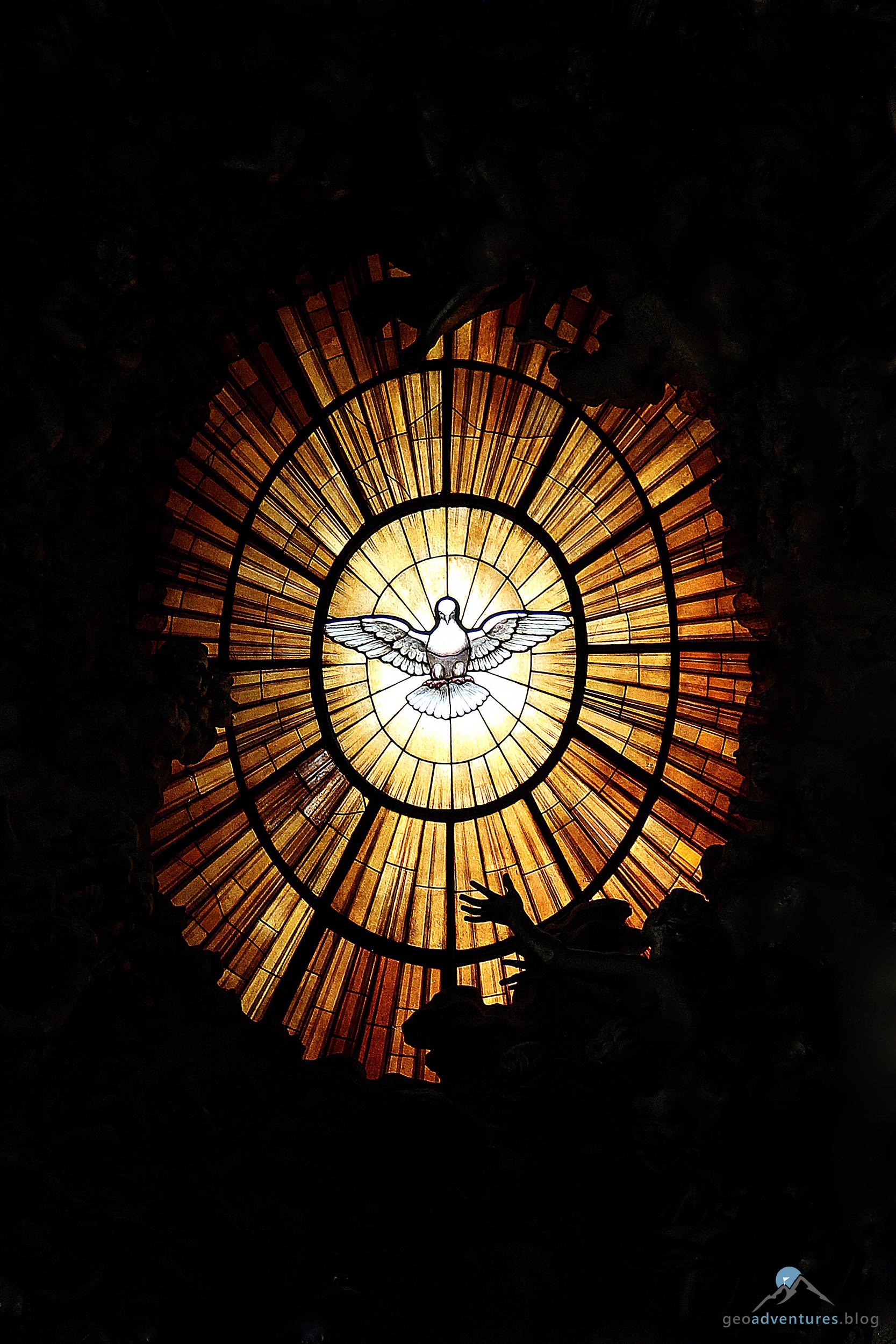 Petersdom Heiliggeisttaube Cathedra Petri