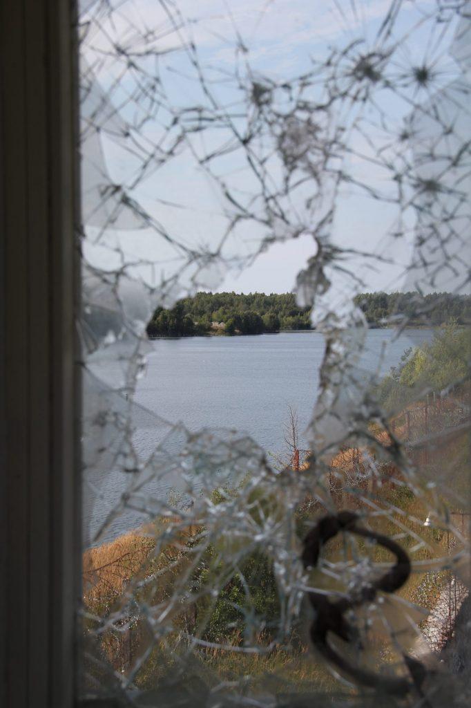 Geocaching in Estland - Gefängnis Rummu Fenster