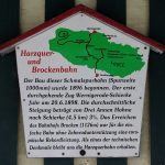 Harzquer- und Brockenbahn Infotafel