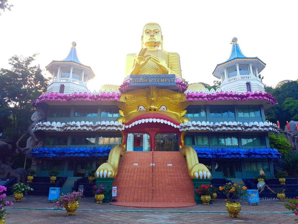 Goldener Tempel Dambulla Geocaching Sri Lanka