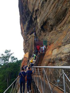 Treppen zum Gipfel von Sigiriya Geocaching Sri Lanka