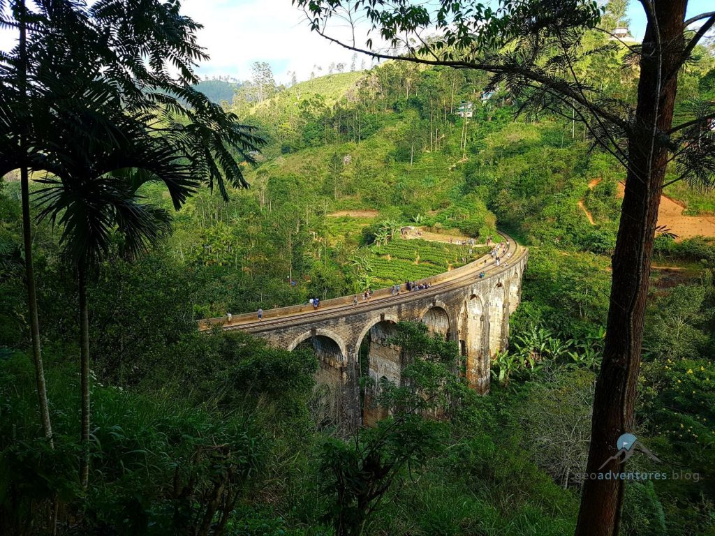 Geocaching Sri Lanka Ella Nine Arch Bridge