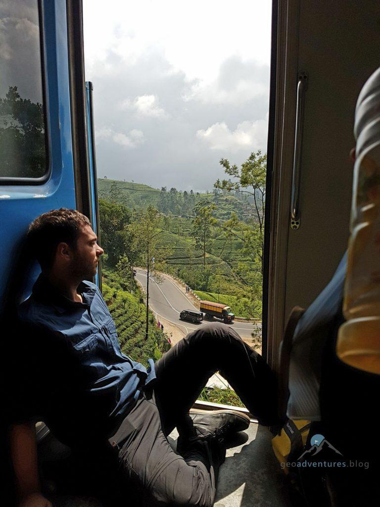 Geocaching Sri Lanka im Zug von Ella nach Kandy