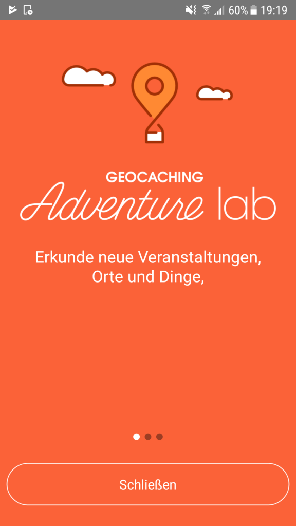Geocaching, Adventure Labs, App