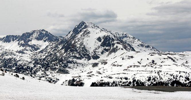 Andorra Blick auf die Pyrenäen