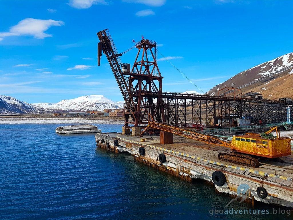 Pyramiden Spitzbergen Hafengelände