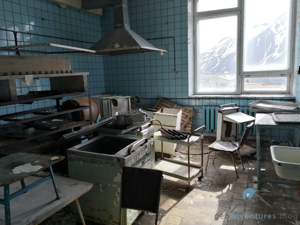 Pyramiden Spitzbergen Svalbard Geocaching Cafeteria