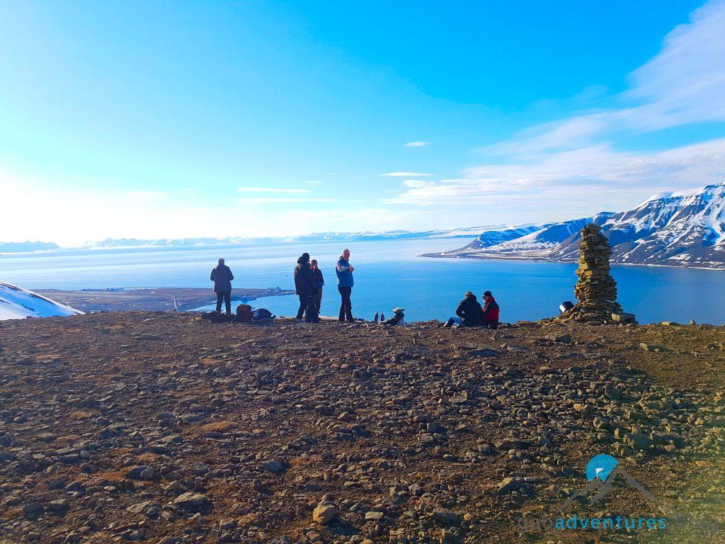 Geocaching in Spitzbergen - Gipfel
