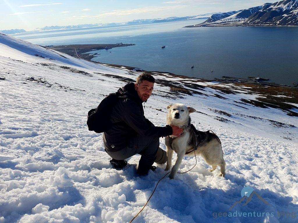 Geocaching in Spitzbergen - Lupus Hyacintho und Clooney