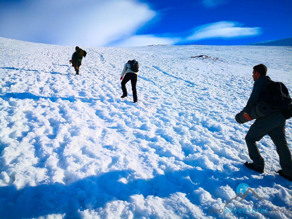 Geocaching in Spitzbergen - Auf dem Weg nach oben