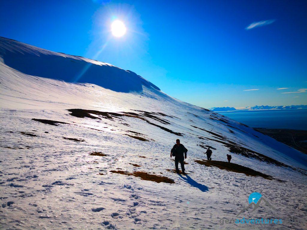 Geocaching in Spitzbergen - Gipfelsturm