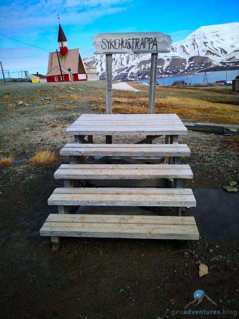 Geocaching auf Spitzbergen -Sykehustrappa