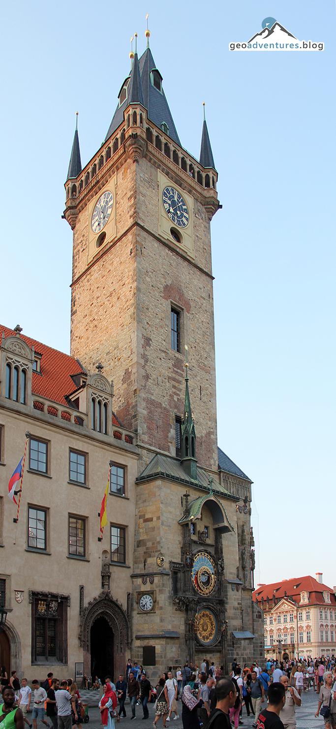 Rathaus in Prag mit astronomischer Uhr